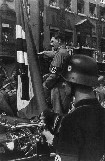 14 The Blood Flag of 1923 shown here with Hitler during Party Rally of 1934